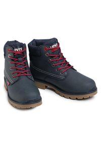 Niebieskie buty zimowe Levi's® z cholewką, na spacer