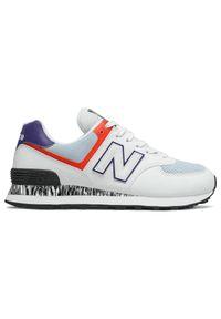 Sneakersy w kolorowe wzory, New Balance 574, trekkingowe