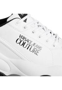 Białe sneakersy Versace Jeans Couture z cholewką