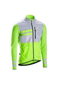 TRIBAN - Bluza rowerowa Triban RC500 widoczna EN1150. Materiał: polar, materiał. Sport: kolarstwo, wspinaczka