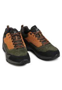 Haglöfs - Trekkingi HAGLÖFS - Skuta Low Proof Eco Men 498410 Oak/Deep Woods. Kolor: zielony. Materiał: skóra, skóra ekologiczna, zamsz, materiał. Szerokość cholewki: normalna. Sport: turystyka piesza