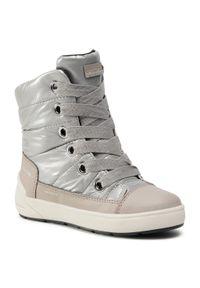 Srebrne buty zimowe Geox