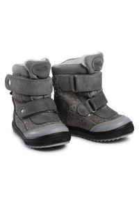 Szare buty zimowe RenBut z cholewką, z cholewką przed kolano