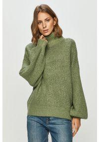 Miętowy sweter Noisy may z długim rękawem, długi