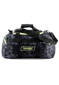 Target Docelowa torba podróżna, W kratkę, czarny. Kolor: czarny. Wzór: kratka