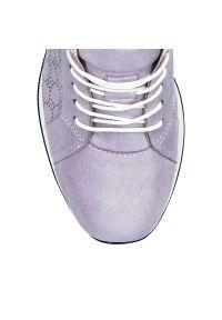 Fioletowe buty sportowe Arturo Vicci na co dzień, z cholewką