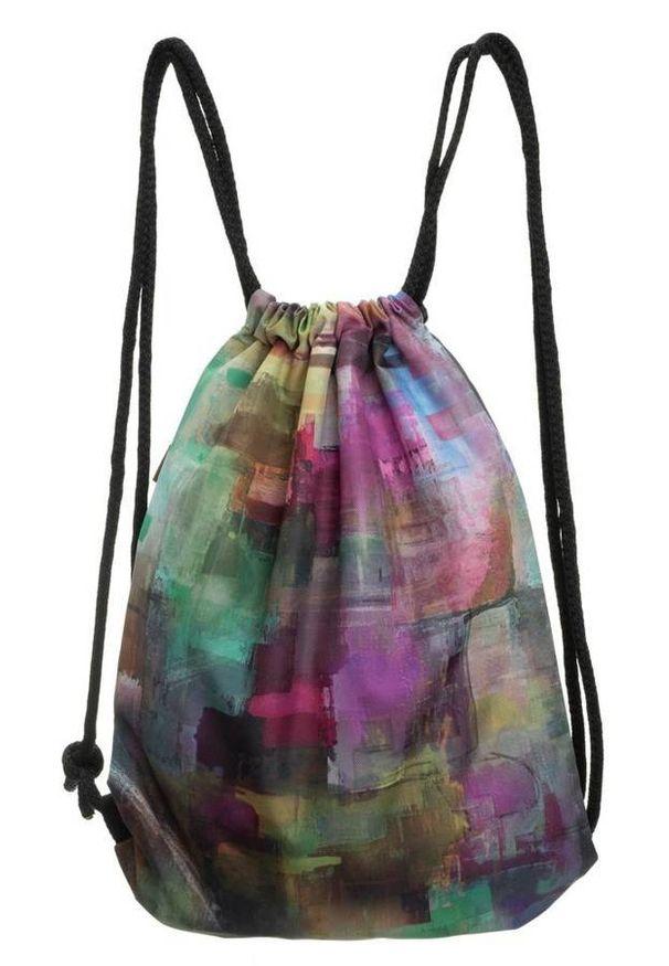 Plecak damski worek Badura T_D085MU_CD. Materiał: materiał. Wzór: aplikacja, nadruk. Styl: casual