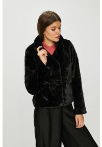 Czarna kurtka only na co dzień, bez kaptura, casualowa