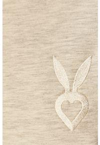 Cardio Bunny - Bluza LOLLY. Okazja: na co dzień. Kolor: szary. Materiał: dzianina. Długość rękawa: długi rękaw. Długość: długie. Wzór: aplikacja. Styl: casual