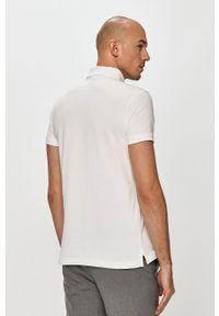 Biała koszulka polo Trussardi Jeans klasyczna, na co dzień, krótka, polo