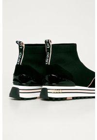 Czarne buty sportowe Liu Jo z okrągłym noskiem, na sznurówki