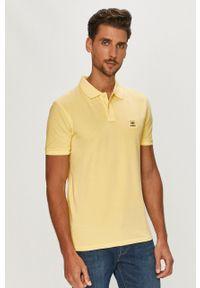Żółta koszulka polo Strellson na co dzień, gładkie, polo, casualowa
