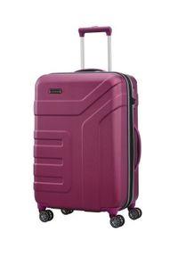 Travelite - TRAVELITE VECTOR Walizka średnia 79/91L Pflaume 4-koła. Kolor: fioletowy. Materiał: materiał