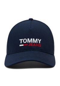 Tommy Jeans - Czapka z daszkiem TOMMY JEANS - Tjm Flag Trucker AM0AM07172 KCG. Kolor: niebieski. Materiał: materiał, poliamid, bawełna