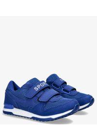 Casu - Niebieskie buty sportowe na rzepy casu hb-201d. Zapięcie: rzepy. Kolor: niebieski
