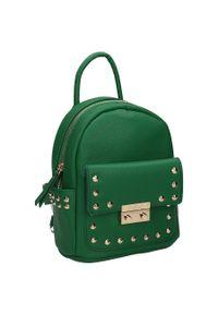 Plecak damski zielony Nobo NBAG-K4110-C008. Kolor: zielony. Materiał: skóra ekologiczna