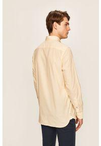 Żółta koszula TOMMY HILFIGER długa, na co dzień, casualowa, button down