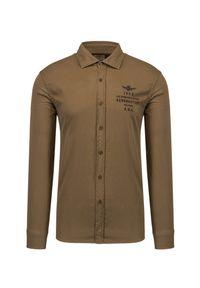 Aeronautica Militare - Koszula AERONAUTICA MILITARE. Okazja: na co dzień. Typ kołnierza: kołnierzyk klasyczny. Materiał: bawełna, tkanina, jeans. Styl: klasyczny, casual