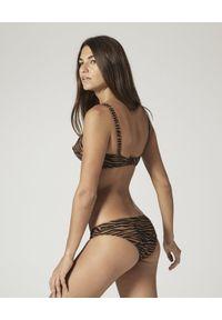 LISA MARIE FERNANDEZ - Strój kąpielowy Goldwyn. Kolor: brązowy. Materiał: materiał. Wzór: motyw zwierzęcy
