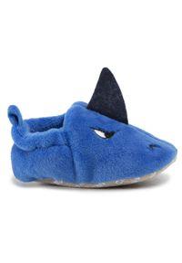 Chipmunks - Kapcie CHIPMUNKS - Sammy Blue. Okazja: na co dzień, do domu. Kolor: niebieski. Materiał: materiał. Wzór: aplikacja. Styl: casual