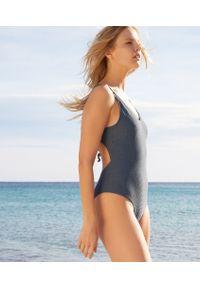 Szary strój kąpielowy jednoczęściowy Etam