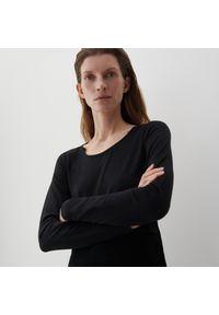 Reserved - PREMIUM Dzianinowa bluzka - Czarny. Kolor: czarny. Materiał: dzianina