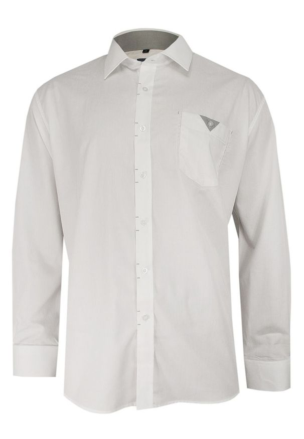 Biała elegancka koszula Ranir z aplikacjami, długa