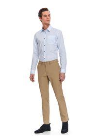 Niebieska koszula TOP SECRET długa, z klasycznym kołnierzykiem, elegancka, na wiosnę