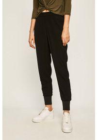 Czarne spodnie materiałowe Vero Moda casualowe, na co dzień