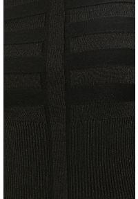 Czarny sweter Morgan z golfem, z długim rękawem, długi