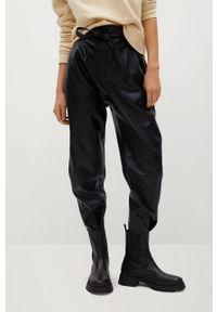 Czarne spodnie materiałowe mango casualowe, na co dzień