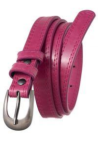 4U CAVALDI - Pasek damski różowy Cavaldi SBB-CV-1 PINK 105. Kolor: różowy. Materiał: skóra. Wzór: gładki. Styl: elegancki