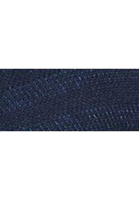 Niebieski sweter TOP SECRET z okrągłym kołnierzem, melanż, na zimę