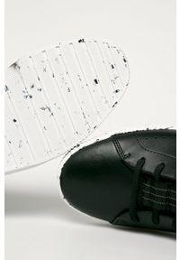 Czarne sneakersy Hugo na sznurówki, z okrągłym noskiem