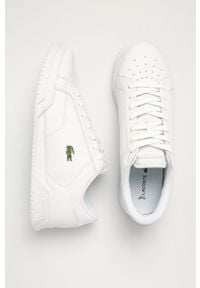 Lacoste - Buty skórzane. Nosek buta: okrągły. Zapięcie: sznurówki. Kolor: biały. Materiał: skóra. Szerokość cholewki: normalna #4