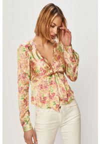 Wielokolorowa bluzka Guess casualowa, z długim rękawem, w kwiaty, długa