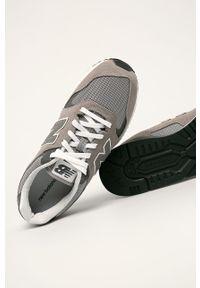 Szare sneakersy New Balance na sznurówki, z cholewką, z okrągłym noskiem #4