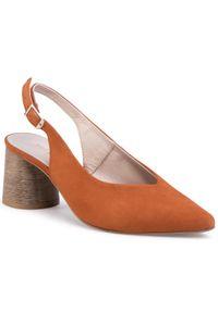 Pomarańczowe sandały Sergio Bardi na co dzień, casualowe