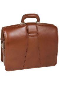 Teczka na laptopa MCKLEIN Harrison 17 cali Brązowy. Kolor: brązowy. Materiał: skóra, materiał. Styl: klasyczny, elegancki #5