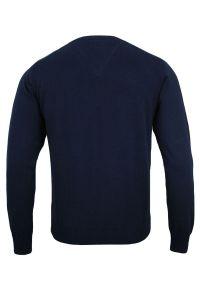 Niebieski sweter Adriano Guinari na spotkanie biznesowe, klasyczny