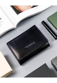 4U CAVALDI - Poziomy portfel damski czarny Cavaldi RD-17-GCL-6283 BLACK. Kolor: czarny. Materiał: skóra