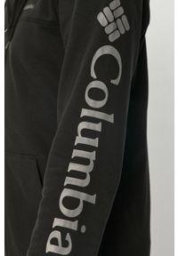 Czarna bluza rozpinana columbia z kapturem, na co dzień, w jednolite wzory, casualowa #5