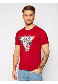 Czerwony t-shirt Guess
