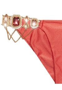 BEACH BUNNY - Dół od bikini Madagascar Glam. Kolor: różowy, wielokolorowy, fioletowy. Materiał: materiał. Wzór: aplikacja