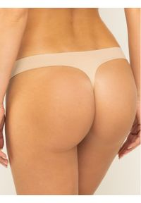 Beżowe stringi Calvin Klein Underwear