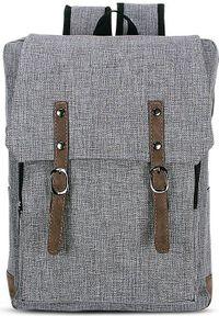 Beniamin Plecak młodzieżowy z klapą Basic - szary. Kolor: szary. Styl: młodzieżowy