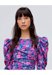Niebieska sukienka For Love & Lemons asymetryczna, na co dzień, casualowa, midi