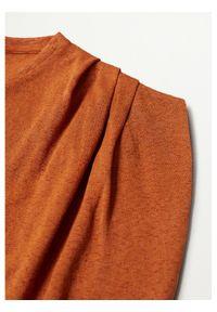 mango - Mango Bluzka Liga 87017138 Pomarańczowy Relaxed Fit. Kolor: pomarańczowy