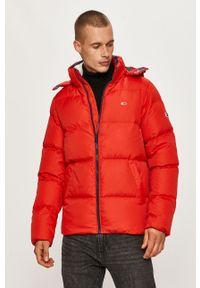 Czerwona kurtka Tommy Jeans z kapturem, na co dzień