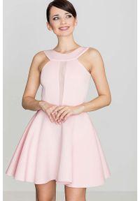 Różowa sukienka rozkloszowana Katrus